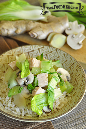 Vegetables and Turkey Stir-Fry