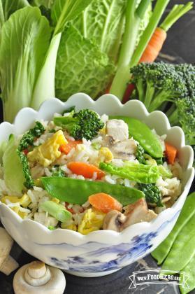 Arroz con Verduras y Huevo