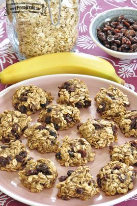 Galletas de Plátano y Avena