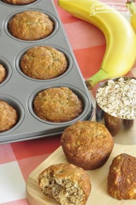 Panecillos (muffins) de Plátano y Avena