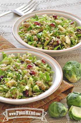 Brussels Sprouts, Cranberry and Bulgur Salad