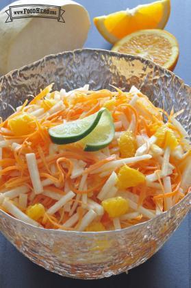Ensalada de Zanahoria, Jícama y Naranja