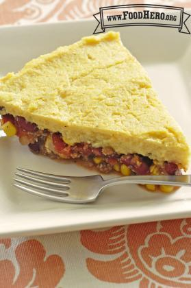 Cheesy Polenta Pie