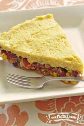 Cheesy Polenta Pie