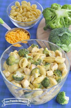 Pollo, Brócoli y Queso a la Sartén