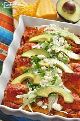 Enchiladas Fáciles con Queso