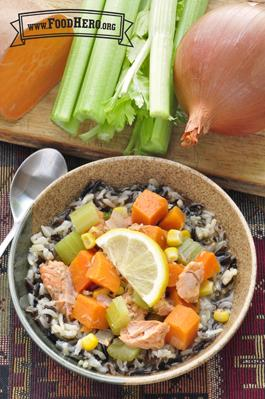 Wild Rice with Salmon Stew