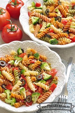 Foto de Ensalada Fría de Pasta y Tomate