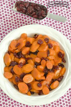 Glazed Carrots and Cranberries
