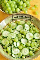 photo of grape and cucumber salad