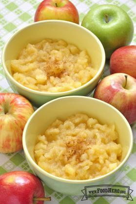 Puré de Manzana en el Horno de Microondas