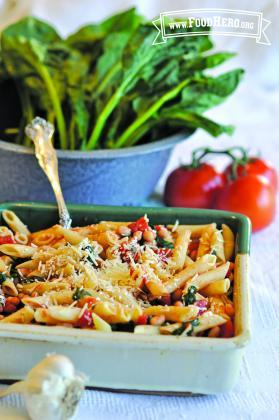 Pasta con Verduras y Frijoles