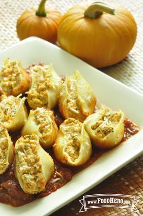 Pumpkin Ricotta Stuffed Shells