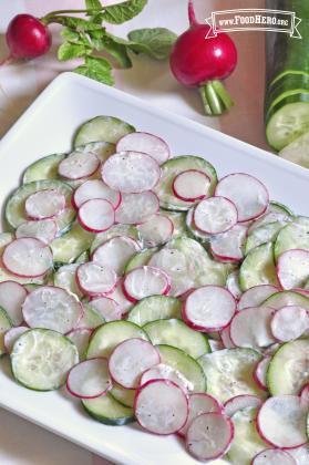 Radish and Cucumber Salad