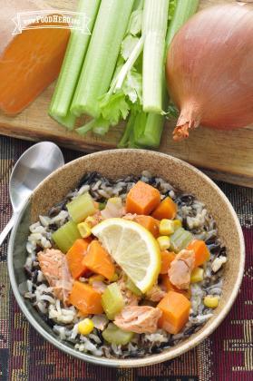 Wild Rice with Salmon Stew