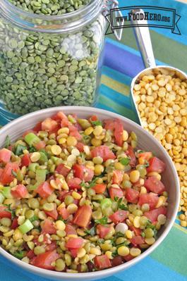 Bowl of Split Pea Salad
