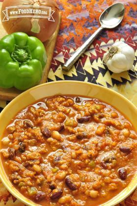 Chili con Pavo y Calabaza