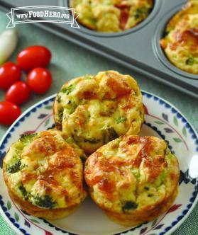 Panecillos (muffins) de Quiche y Verduras