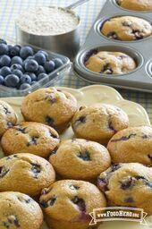 Picture of whole wheat blueberry muffins