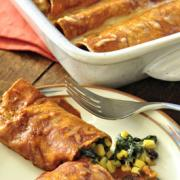 Photo of Spinach and Black Bean Enchiladas