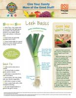 Leeks Food Hero Monthly