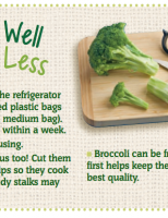 Store Well Waste Less Broccoli