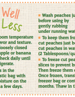 Store Well Waste Less Peaches