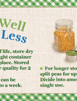 Store Well Waste Less Split Peas
