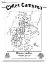 Chiles Campana hoja para colorear