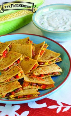 Photo of Veggie Quesadillas with Cilantro Yogurt Dip