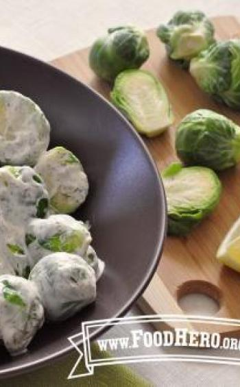 Photo of Lemon Dill Brussels Sprouts