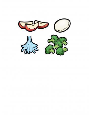 Ilustratión de Brócoli Picado