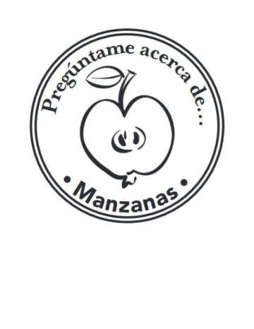 Mano Sello Imagen de Manzanas