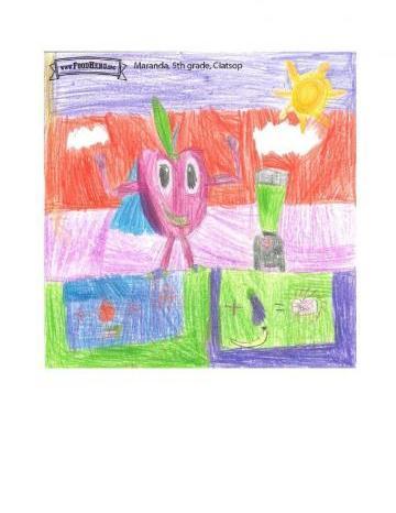 Niños Art Winners - Manzanas