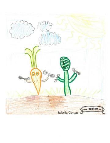 Niños ganadores de arte