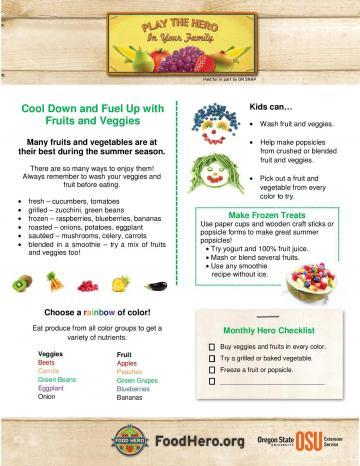 Cool Down and Fuel Up with Fruits and Veggies