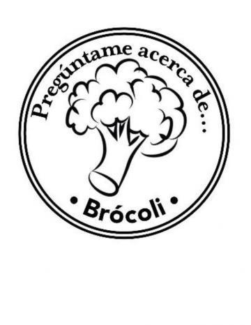Mano Sello Imagen de Brócoli