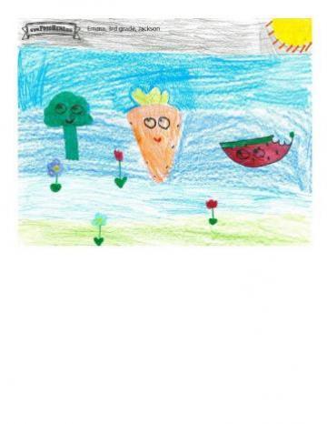 Niños Art Winners - Brócoli