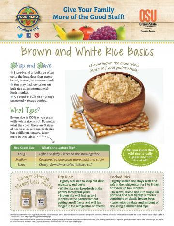 Image of Brown and White Rice Monthly