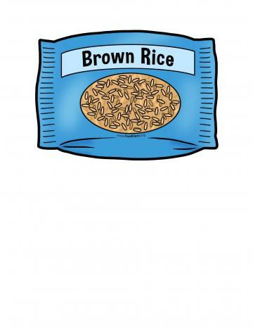 Bag of Brown Rice Illustration