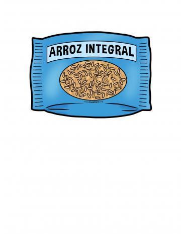 Ilustración de Arroz Integral