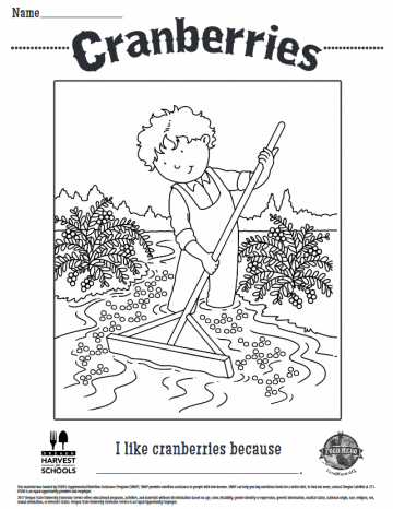 Cranberries Coloring Sheet
