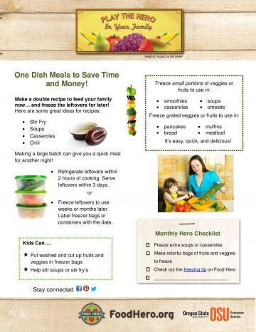 One Dish Meals to Save Time and Money