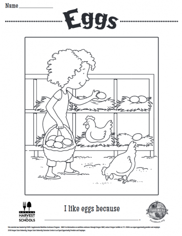 Eggs Coloring Sheet