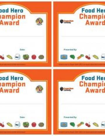 Small Certificates - 4 to a sheet - English