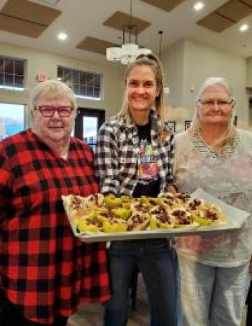 Cinnamon Baked Pears at a Umatilla County Senior Center