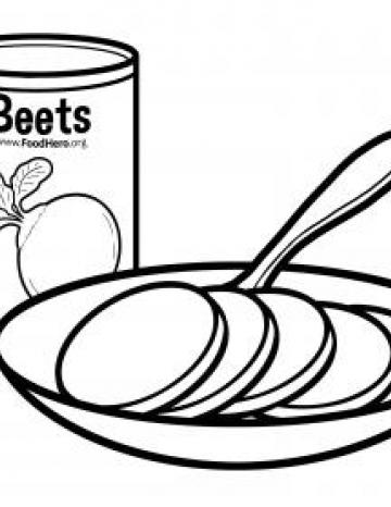 Canned Beets with Bowl