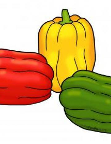 Tri-Color Bell Peppers Color