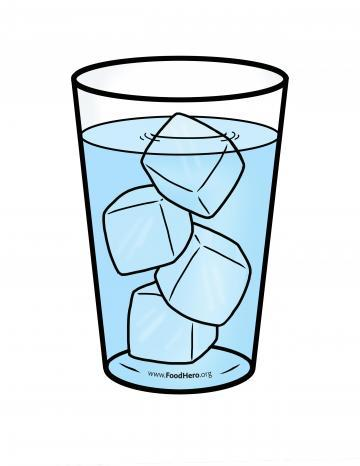 Water Glass with Ice Color