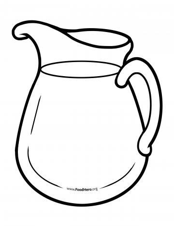 Water Pitcher Blackline